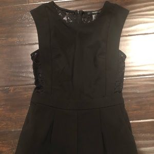 Black lacy romper